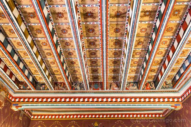 Francia Pays Catare Abadia Saint Hilaire Aposentos Techo