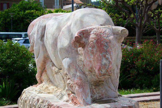Francia Pays Catare Caunes-Minervois Marmol Estatua