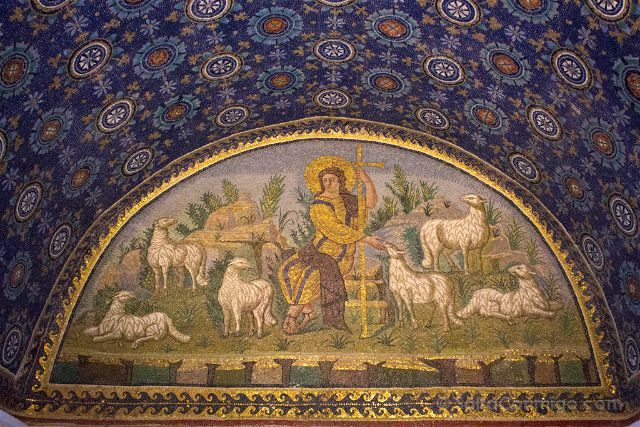 Italia Ravenna Mosaico Mausoleo Gala Placidia Divino Pastor