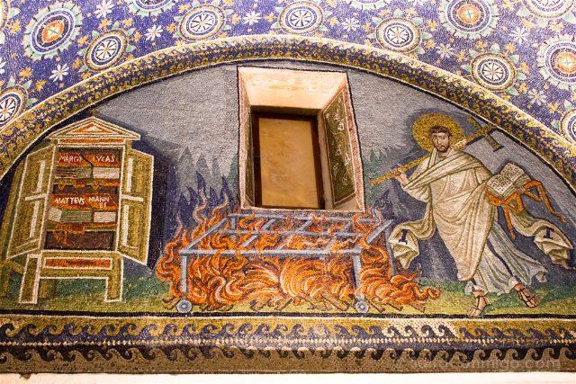 Italia Ravenna Mosaico Mausoleo Gala Placidia San Lorenzo