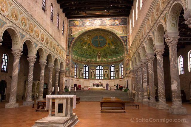 Italia Ravenna Mosaico San Apolinar Classe Nave Central