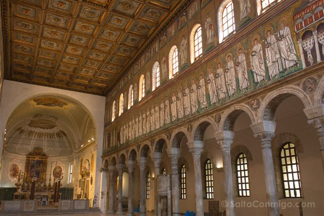 Italia Ravenna Mosaico San Apolinar Nuevo Nave Central