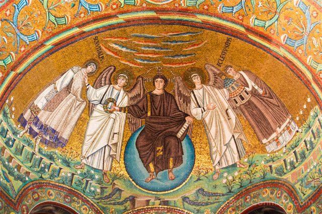 Italia Ravenna Mosaico San Vital Abside