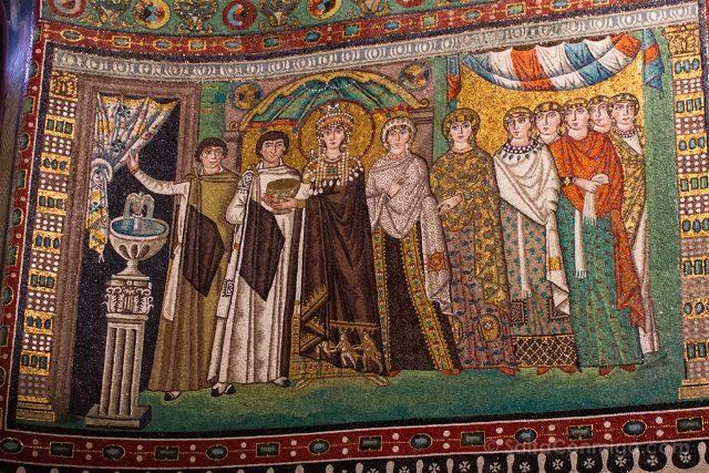 Italia Ravenna Mosaico San Vital Teodora