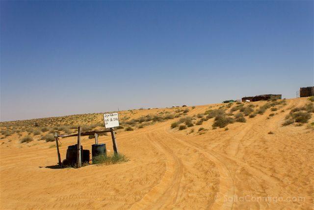 Oman Desierto Ghalat Gasolinera