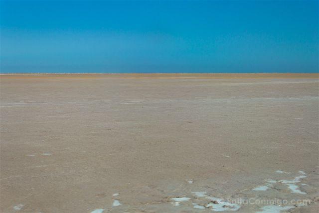 Oman Desierto Laguna Salada Horizonte