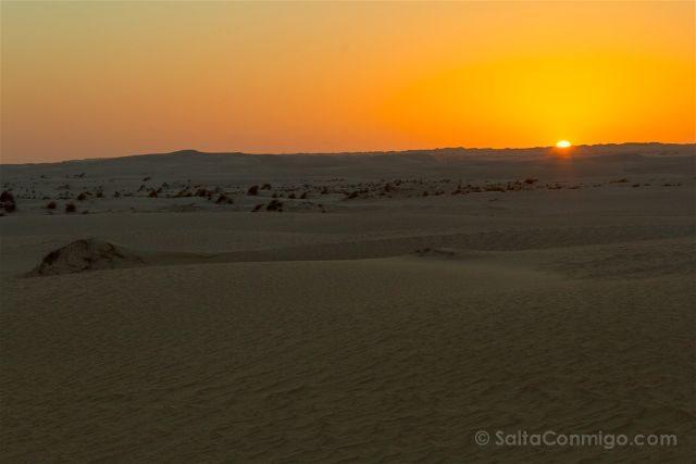 Oman Desierto Sugar Desert Al-Khaloof Puesta Sol