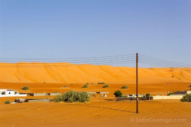Oman Desierto Wahiba Sands Ramlat Casas Al-Ghabbi