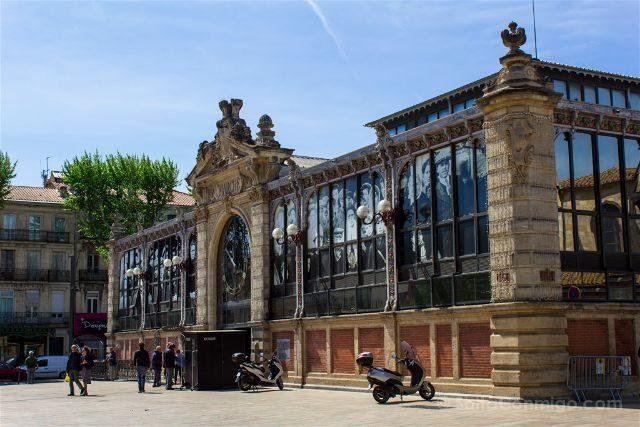 Que ver en Narbona Mercado Les Halles Exterior