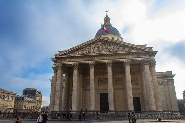 Francia Paris Monumentos Nacionales Pantheon Exterior