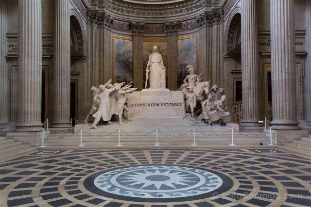 Francia Paris Monumentos Nacionales Pantheon Interior Convencion Nacional