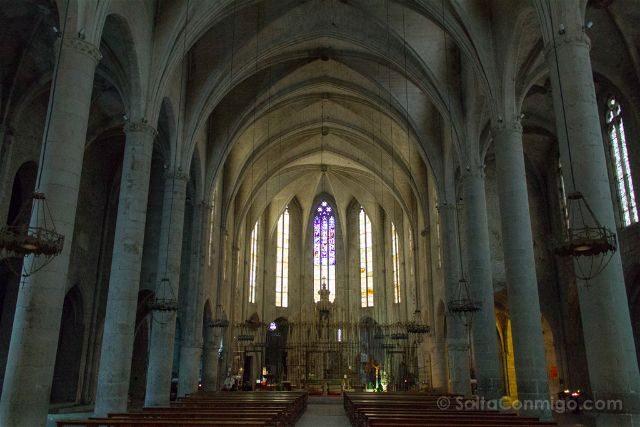 Girona Catedral Emporda Castello Empuries Nave Interior