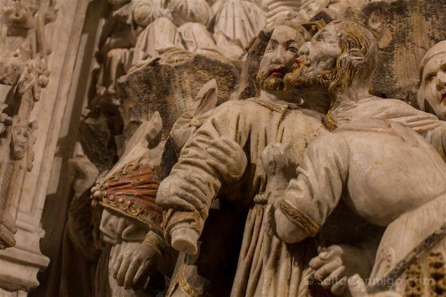 Girona Catedral Emporda Castello Empuries Retablo Detalle