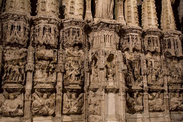 Girona Catedral Emporda Castello Empuries Retablo Inferior Panorama