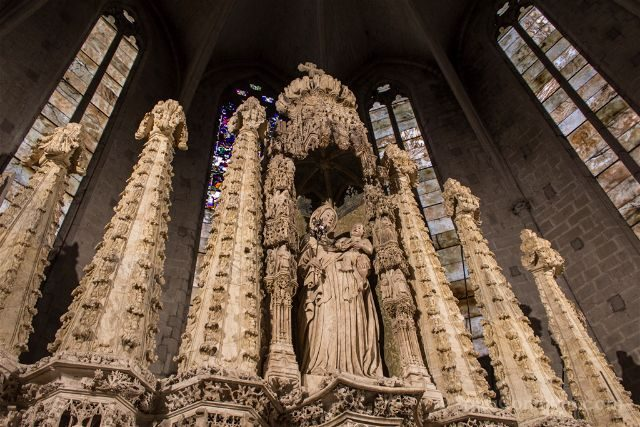 Girona Catedral Emporda Castello Empuries Retablo Superior Angulo Izquierdo