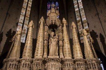 Girona Catedral Emporda Castello Empuries Retablo Superior Virgen