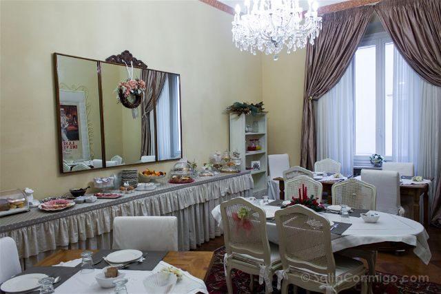 Italia Emilia Romagna Ravena Casa Masoli BB Hotel Boutique Ravenna Desayunador