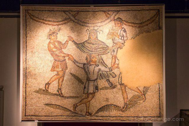 Italia Emilia Romagna Ravena Domus Tappeti Pietra Danza Genios Estaciones