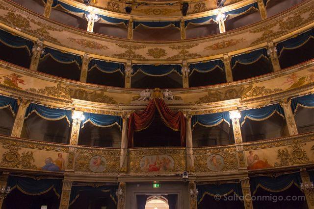 Italia Emilia Romagna Ravena Teatro Alighieri Patio Butacas
