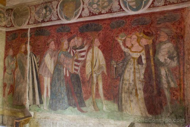 Italia Sudtirol Tirol Del Sur Bolzano Castel Roncolo Schloss Runkelstein Frescos