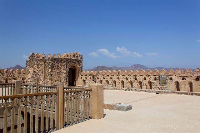 Oman Castillo Jabreen Castle Azotea