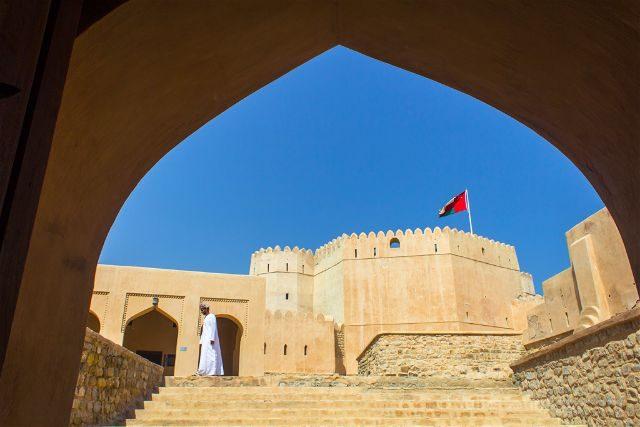 Oman Fuerte Barka Fort Puerta