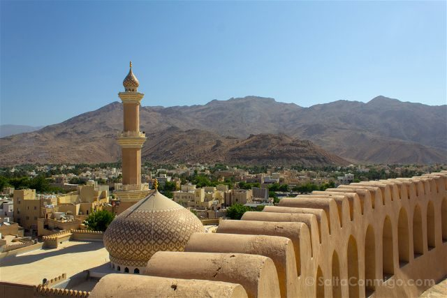 Oman Fuerte Nizwa Fort Vista Mezquita