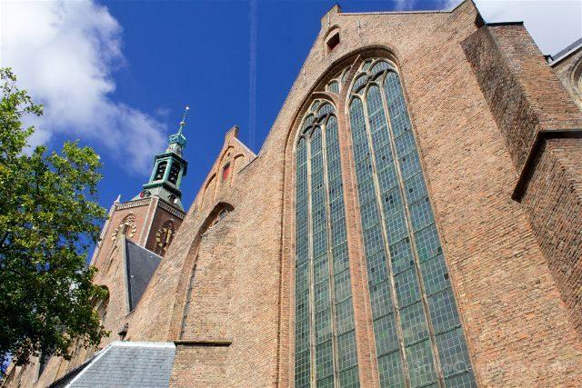 Paises Bajos Holanda La Haya Grote Kerk Sint Jacobskerk Exterior