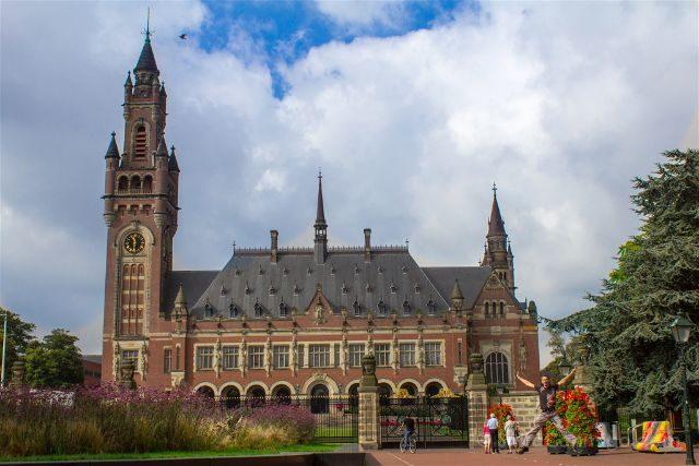 Paises Bajos Holanda La Haya Palacio Paz Salto