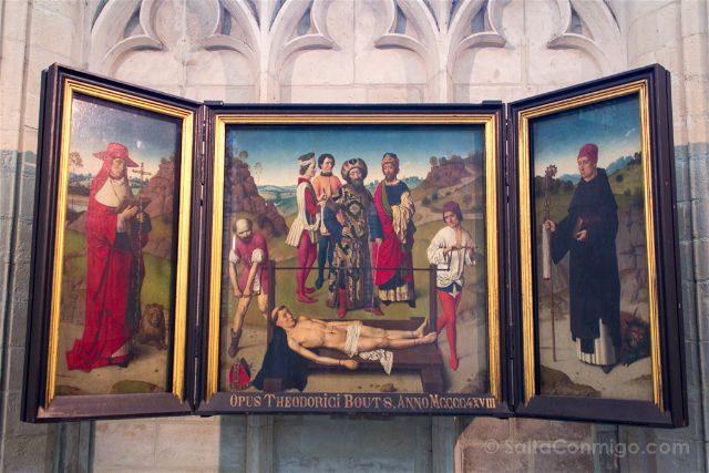 Belgica Flandes Lovaina Iglesia San Pedro Dirk Bouts Martirio San Erasmo
