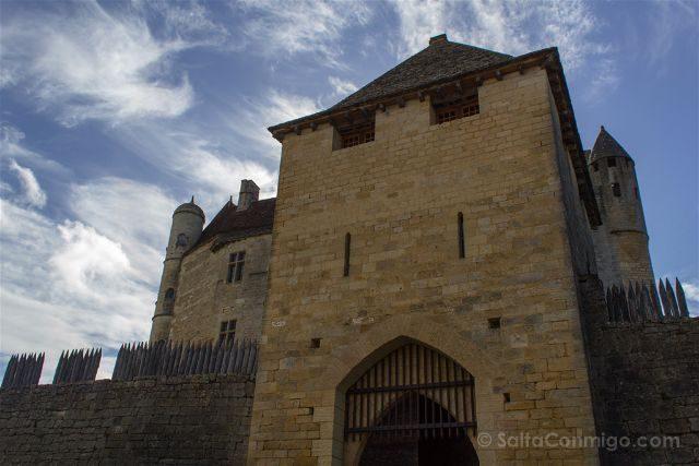 Francia Aquitania Beynac Castillo Entrada