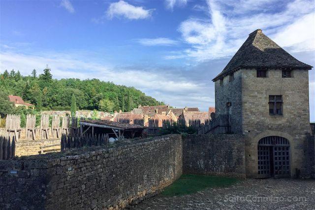 Francia Aquitania Beynac Castillo Patio