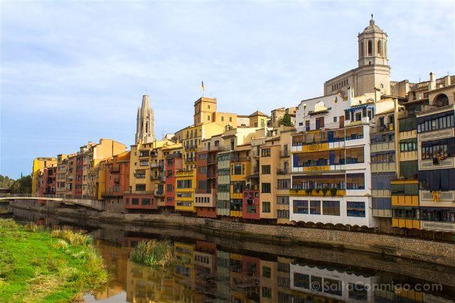 Girona Casa Maso Fachada Rio Onyar