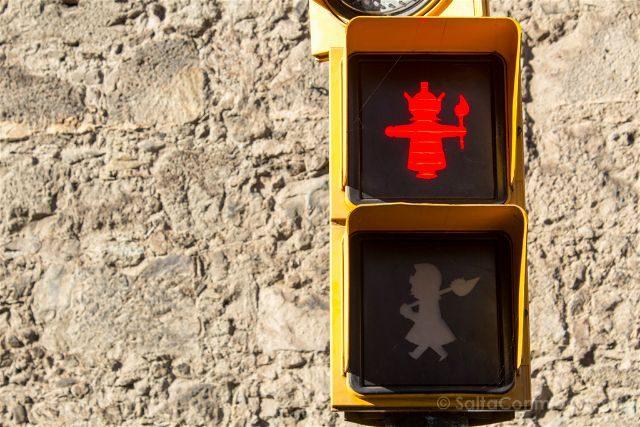 Girona Garrotxa Olot Semaforo Gigantes