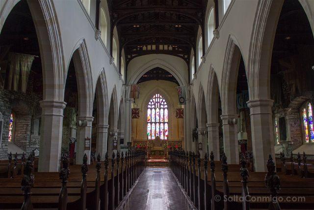 Irlanda Del Norte Derry Londonderry Catedral San Columbano Interior
