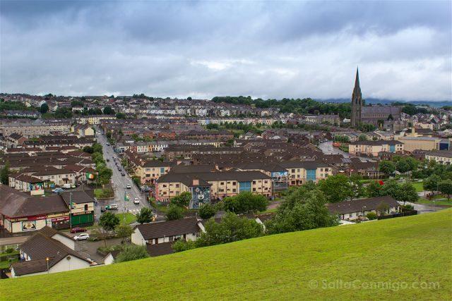 Irlanda Del Norte Derry Londonderry Muralla Vista Bogside