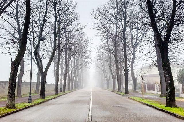 Italia Emilia Romagna Forlimpopoli Niebla
