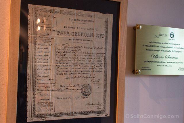 Italia Emilia Romagna Forlimpopoli Pasaporte Artusi Papa