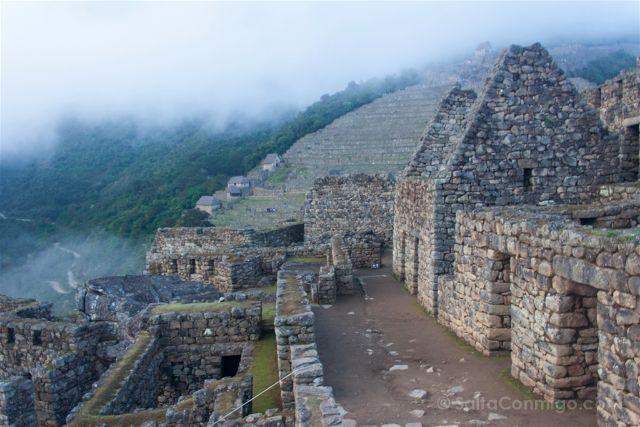 Peru Machu Picchu Niebla Entrada Trasera