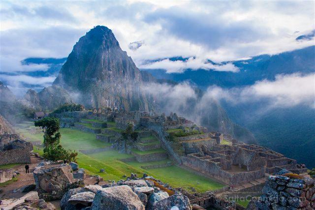 Peru Machu Picchu Niebla Vista Cara Inca