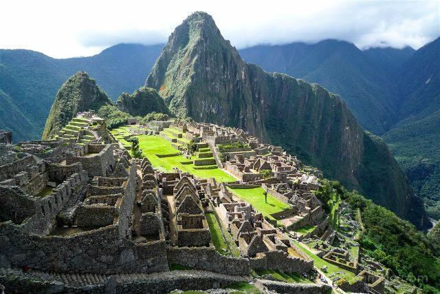Peru Machu Picchu Vista Clasica Cara Inca Sol