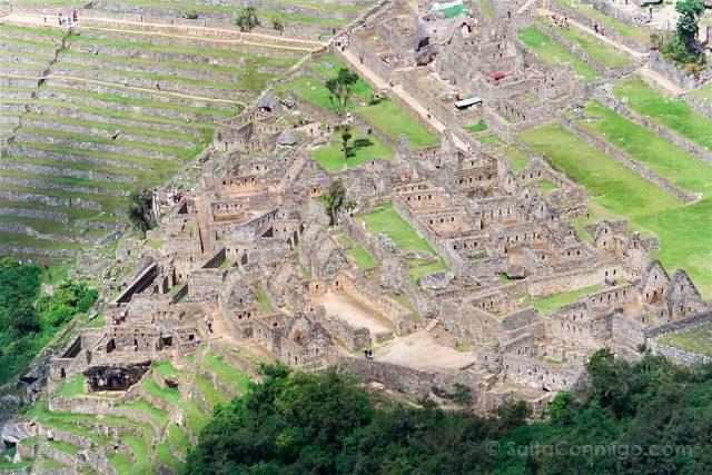 Peru Machu Picchu Vista Huayna Picchu Detalle