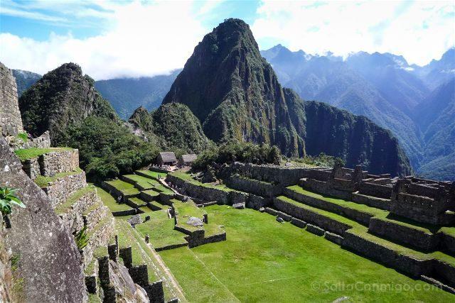 Peru Machu Picchu Vista Huayna Picchu Plaza Sagrada