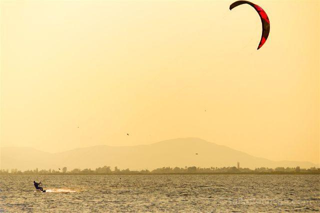 Tarragona Delta del Ebro Terres Ebre El Trabucador Kitesurfer