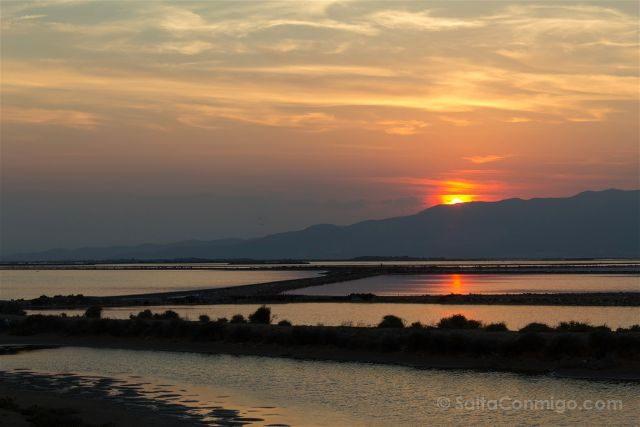 Tarragona Delta del Ebro Terres Ebre El Trabucador Puesta Sol