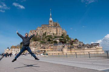 Francia Normandia Mont Saint-Michel Salto