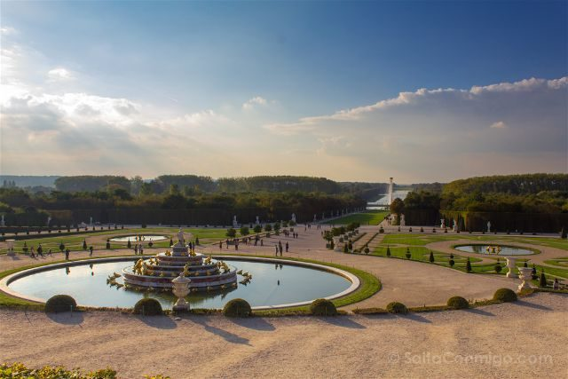 Francia Paris Jardines Fuentes Versalles Gran Perspectiva