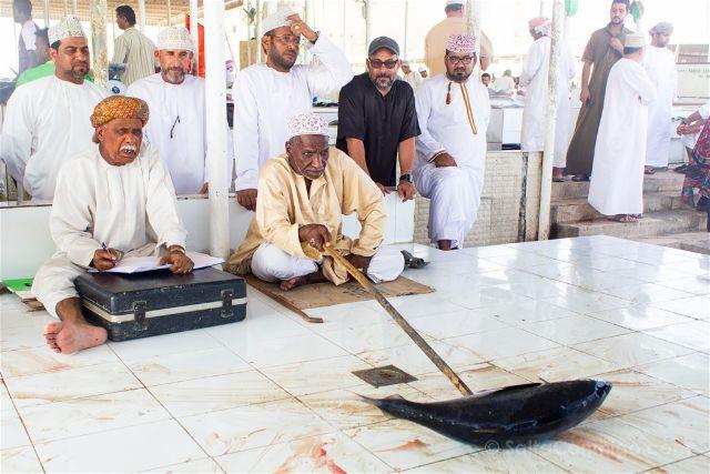 Oman Barka Mercado Pescado Subasta
