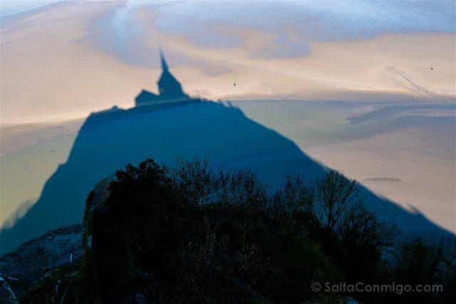Francia Normandia Mont Saint-Michel Abadia Sombra