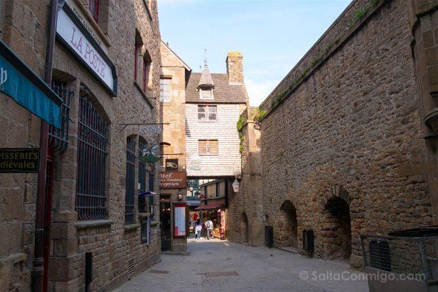 Francia Normandia Mont Saint-Michel Calle Entrada